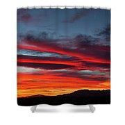 Chiricahua Mountain Sunset Shower Curtain