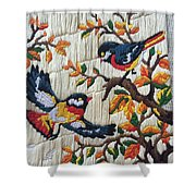 Chirping Birds Shower Curtain