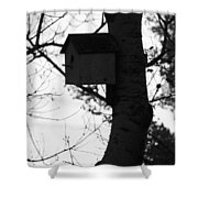 Chirping Messages  Shower Curtain