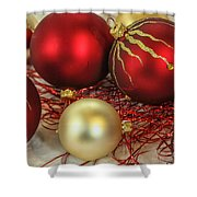 Chirstmas Ornaments Shower Curtain