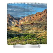 Chisos Mountains Of West Texas Shower Curtain