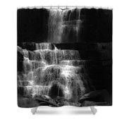 Chittenango Falls Bw Shower Curtain