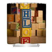 Chloe - Alphabet Blocks Shower Curtain