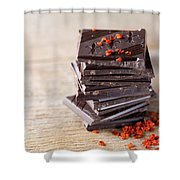 Chocolate And Chili Shower Curtain
