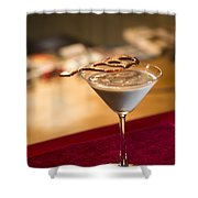 Chocolate And Cream Martini Cocktail Shower Curtain