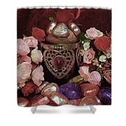 Chocolate And Romance Shower Curtain