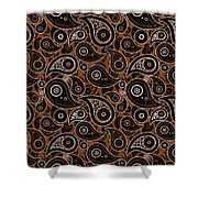 Chocolate Brown Paisley Design Shower Curtain