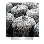 Chocolate Coconut Cakes Shower Curtain