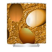 Chocolate Eggs Shower Curtain