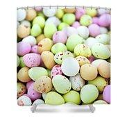 Chocolate Eggs Shower Curtain