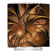 Chocolate Essence Shower Curtain
