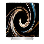 Chocolate Lick Shower Curtain by Dana Kern