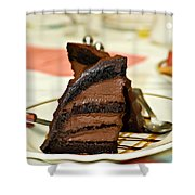Chocolate Mousse Cake Shower Curtain
