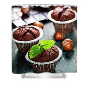 Chocolate Muffins Shower Curtain