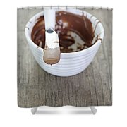 Chocolate Sauce In Bowl Shower Curtain