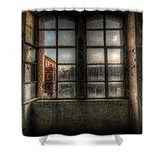 Chocolate Window Shower Curtain