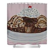 Chocolatey Brownie Sundae Shower Curtain