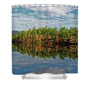 Chocorua Lake Reflection Shower Curtain