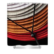 Choices - Western Hat Pileup Shower Curtain