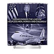 Choking The Usa Shower Curtain