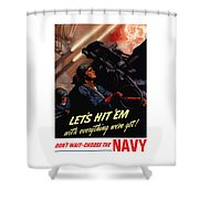 Choose The Navy -- Ww2 Shower Curtain