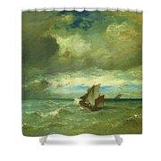 Choppy Sea 1870 Shower Curtain