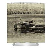 Vintage 1958 Chris Craft Shower Curtain