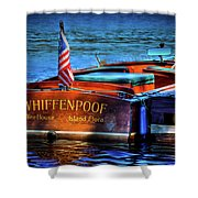 1958 Chris Craft Utility Boat Shower Curtain