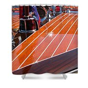 Chris Craft Bow Shower Curtain