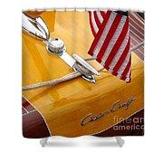 Chris Craft Custom Shower Curtain by Neil Zimmerman