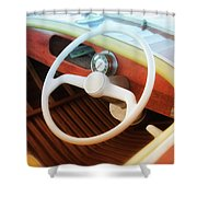 Chris Craft Dreaming Shower Curtain