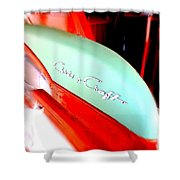 Chris Craft In Blur  Shower Curtain