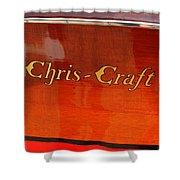 Chris Craft Logo Shower Curtain by Michelle Calkins