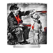 Chris-craft Sailor And Sailor Vintage Ad Shower Curtain