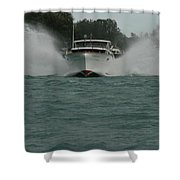 Chris Craft Splash Shower Curtain