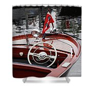 Chris Craft Sportsman Shower Curtain
