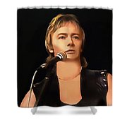 Young Chris Norman Shower Curtain