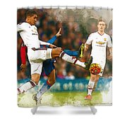 Chris Smalling  In Action  Shower Curtain