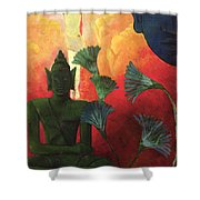 Christ And Buddha Shower Curtain by Paul Ranson