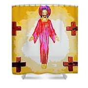 Christ And Crosses Shower Curtain