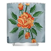 Christ And The Disciples Roses Shower Curtain