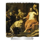 Christ And The Penitent Sinners Shower Curtain