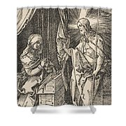 Christ Appearing To His Mother, From The Small Passion Shower Curtain