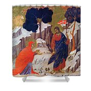 Christ Appearing To Mary 1311 Shower Curtain
