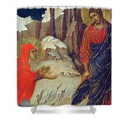 Christ Appearing To Mary Magdalene Fragment 1311 Shower Curtain