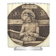 Christ As The Man Of Sorrows Shower Curtain