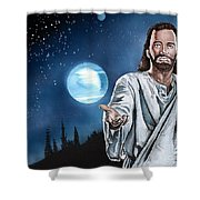 Christ At Night Shower Curtain