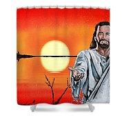 Christ At Sunrise Shower Curtain