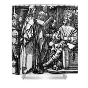 Christ Before Herod 1509 Shower Curtain