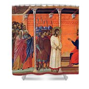 Christ Before Pilate 1311 Shower Curtain